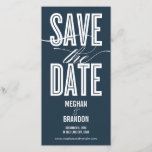 """Vintage Chic Save The Date Photo Cards<br><div class=""""desc"""">These chic and modern photo cards stylishly request your guests to save the date for your big day. Available in other colors (custom color requests are welcome!).</div>"""