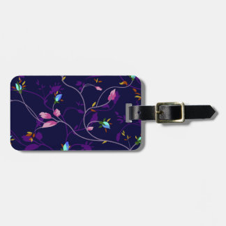 Vintage Chic Small Rosebuds Pattern Luggage Tag