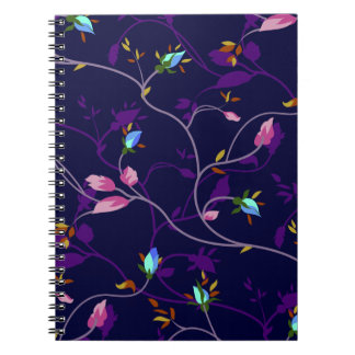 Vintage Chic Small Rosebuds Pattern Notebook