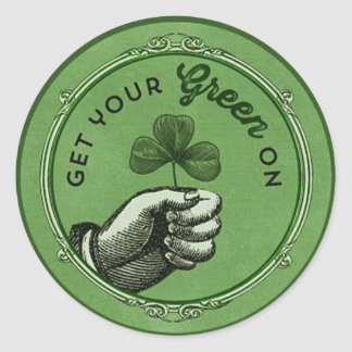 Vintage chic St. Patrick's Day Get your green on Stickers
