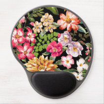 Vintage Chic Tropical Hibiscus Floral Gel Mouse Pad