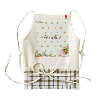 vintage,chic,victorian,collage,girly,modern,cute,m zazzle HEART apron