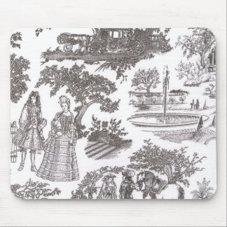 Vintage Chic Victorian Toile Mousepad