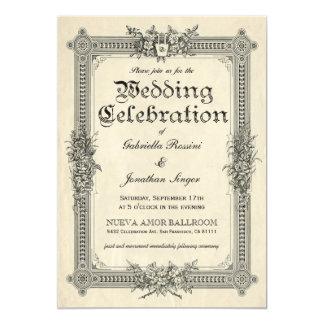 Vintage Chic Wedding Invitations 1 A