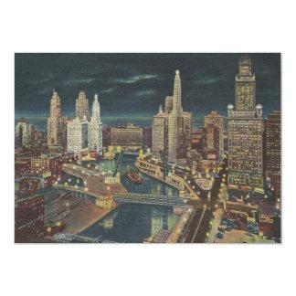 Vintage Chicago 1952 Invitación 12,7 X 17,8 Cm