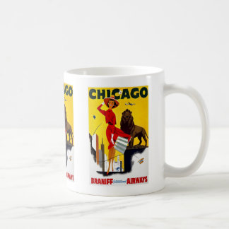 Vintage Chicago Advertisement Classic White Coffee Mug