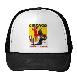 Vintage Chicago Advertisement Trucker Hat