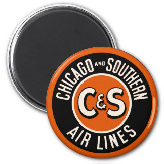 Vintage Chicago and Southern Air Lines Magnet