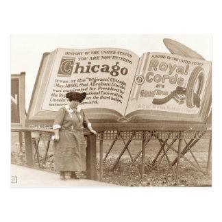Vintage Chicago Billboard Postcard