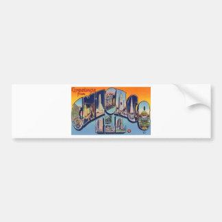 Vintage Chicago City Bumper Sticker