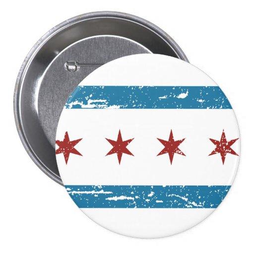 Vintage CHICAGO Flag Pin