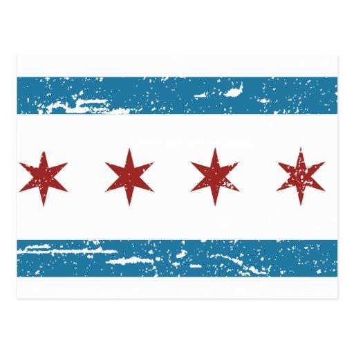 Vintage CHICAGO Flag Postcard