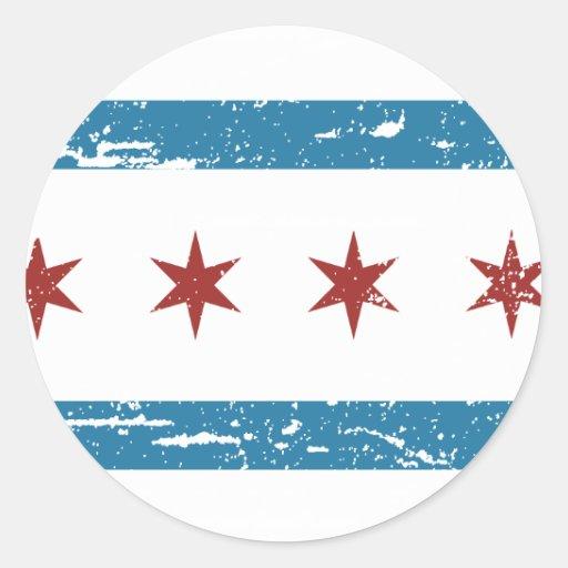 Vintage CHICAGO Flag Stickers