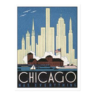 Vintage Chicago Illinois los E.E.U.U. Postal