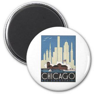 Vintage Chicago Illinois 2 Inch Round Magnet