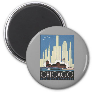 Vintage Chicago Illinois Refrigerator Magnets