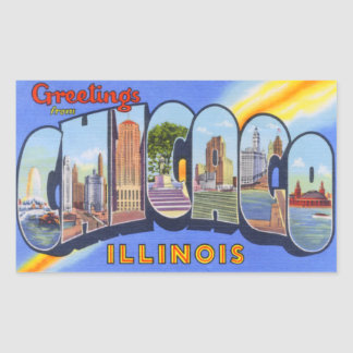 Vintage Chicago Illinois Stickers