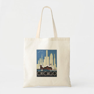 Vintage Chicago Illinois Tote Bag
