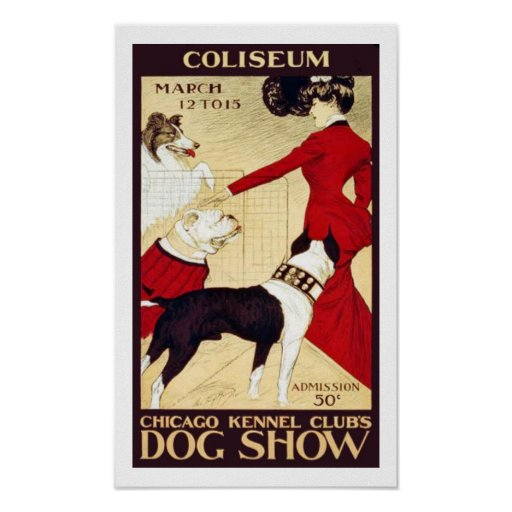 Vintage chicago kennel club show poster zazzle for Vintage chicago posters