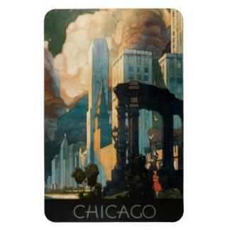 Vintage Chicago, los E.E.U.U. - Imán Foto Rectangular