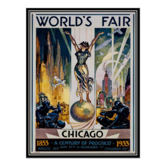 Vintage Chicago, los E.E.U.U. - Poster