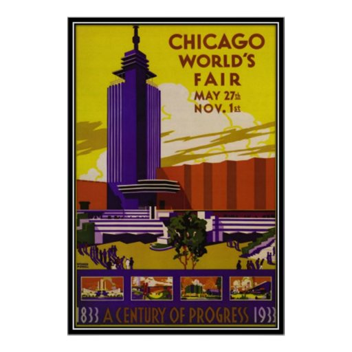 Vintage Chicago, los E.E.U.U. - Póster