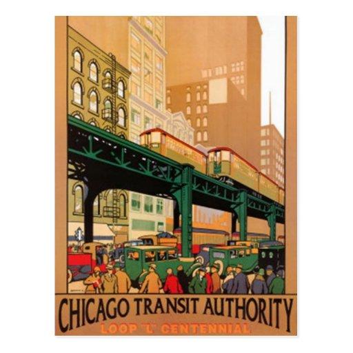 Vintage Chicago, los E.E.U.U. - Tarjetas Postales