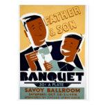 Vintage Chicago, padre real del teatro y día del h Tarjetas Postales