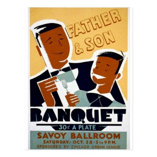 Vintage Chicago, padre real del teatro y día del Tarjetas Postales