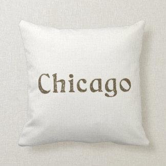 Vintage Chicago Throw Pillow