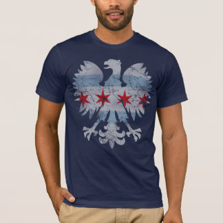Vintage Chicago Polish Eagle Flag T-Shirt