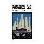 Vintage Chicago Postage