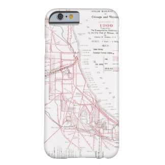 Vintage Chicago Rail Map - Steam Trains Barely There iPhone 6 Case