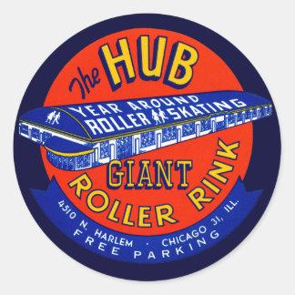 Vintage Chicago Roller Rink Classic Round Sticker
