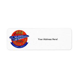 Vintage Chicago Roller Rink Custom Return Address Label