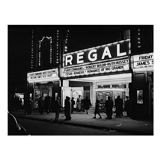 Vintage Chicago, The Regal Theater Marquee Postcard