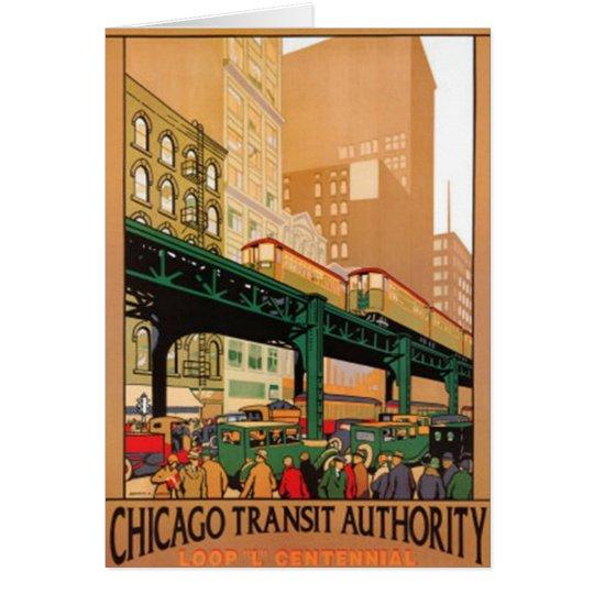 Vintage Chicago, USA - Card