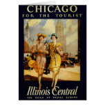 Vintage Chicago, USA - Greeting Card