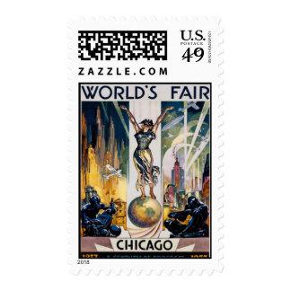 Vintage Chicago, USA - Postage Stamps