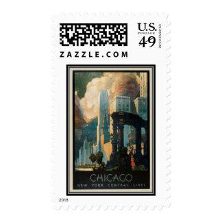 Vintage Chicago, USA - Stamps