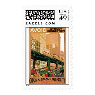 Vintage Chicago, USA - Postage