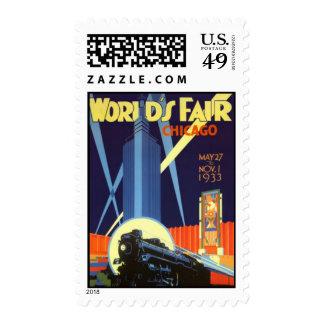 Vintage Chicago, USA - Postage Stamp
