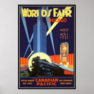 Vintage Chicago, USA - Poster