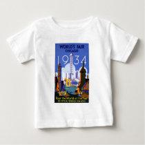 Vintage Chicago World's Fair 1934 Ad Baby T-Shirt