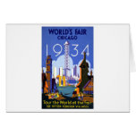 Vintage Chicago World's Fair 1934 Ad Card