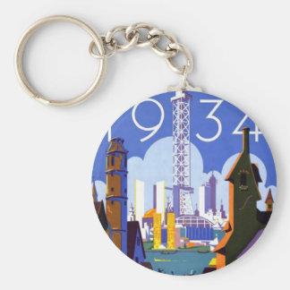Vintage Chicago World's Fair 1934 Ad Keychains