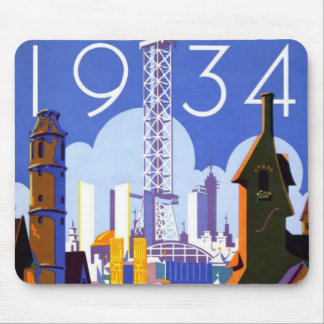 Vintage Chicago World's Fair 1934 Ad Mouse Pad