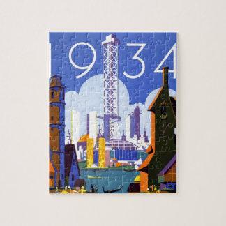 Vintage Chicago World's Fair 1934 Ad Jigsaw Puzzle
