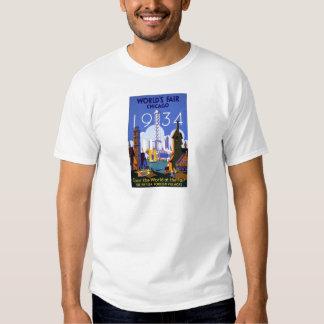 Vintage Chicago World's Fair 1934 Ad T-shirt