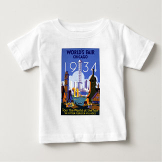 Vintage Chicago World's Fair 1934 Ad Tshirts
